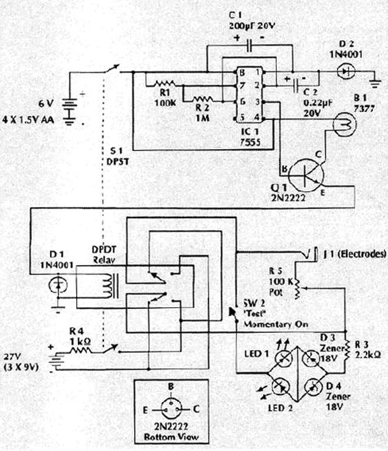 the beck blood electrifier schematic and parts list