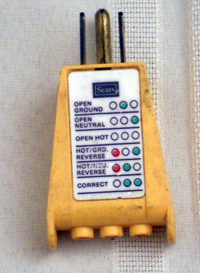 Electric outlet circuit tester