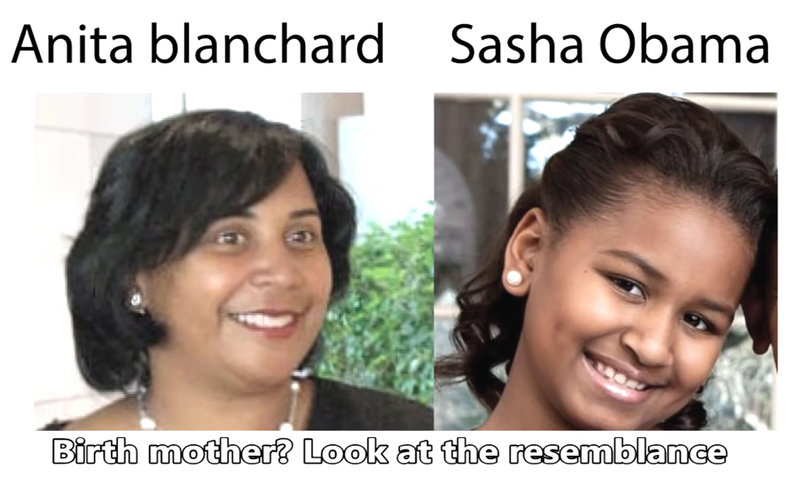 Anita Blanchard Nesbitt and Sasha Obama