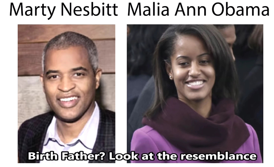 Marty Besbitt and Malia Obama