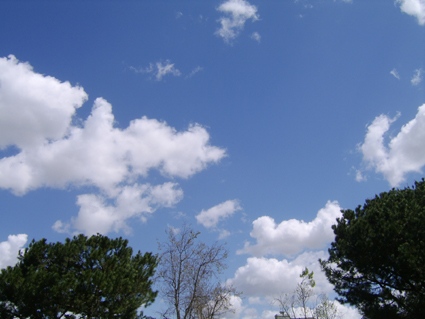 Cumulus clouds 2 Irvine, CA March 27 2007