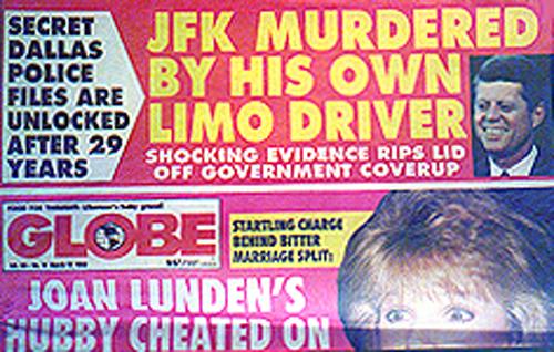 Globe Headline says JFK Limo Driver Did It