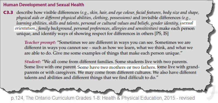 Curriculum samples for sex education