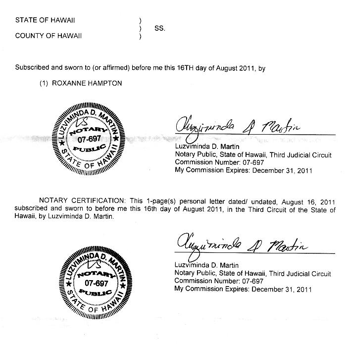 hampton notary seal